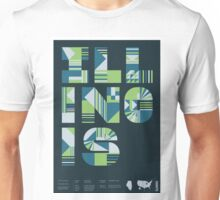 Typographic Illinois State Poster Unisex T-Shirt