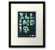 Typographic Illinois State Poster Framed Print