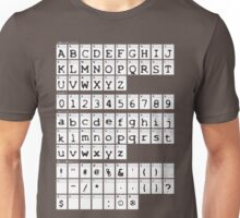 X FILES alphabet Unisex T-Shirt