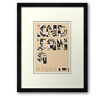 Typographic Indiana State Poster Framed Print