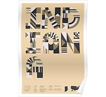 Typographic Indiana State Poster Poster