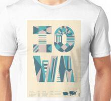 Typographic Iowa State Poster Unisex T-Shirt