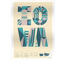 Typographic Iowa State Poster Poster