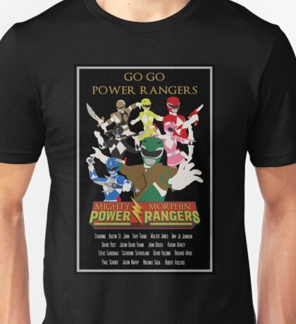 Mighty Morphin Power Rangers - Movie Style Poster Unisex T-Shirt