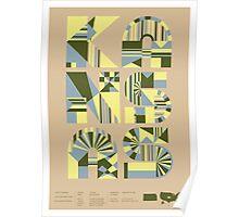 Typographic Kansas State Poster Poster