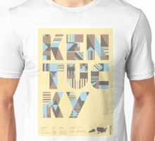 Typographic Kentucky State Poster Unisex T-Shirt