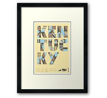 Typographic Kentucky State Poster Framed Print
