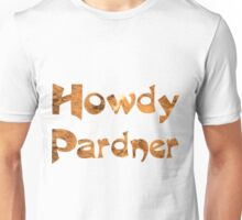 Burnt Orange Texas Long Horn Cowhide Pattern Unisex T-Shirt