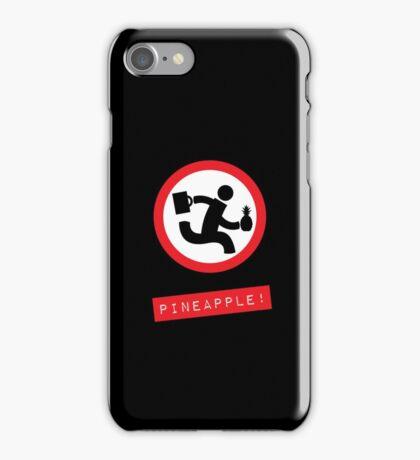 "Chuck TV show ""Pineapple!"" black phone case iPhone Case/Skin"
