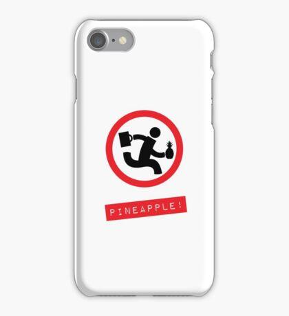 "Chuck TV show ""Pineapple!"" white phone case iPhone Case/Skin"