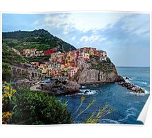 Vibrant colors of Manarola Poster