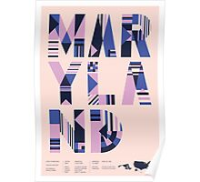 Typographic Maryland State Poster Poster