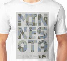 Typographic Minnesota State Poster Unisex T-Shirt