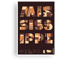 Typographic Mississippi State Poster Canvas Print