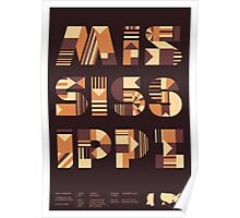 Typographic Mississippi State Poster Poster