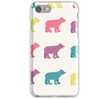 Colorful bears iPhone Case/Skin