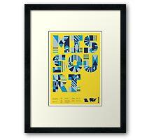 Typographic Missouri State Poster Framed Print