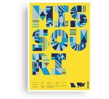 Typographic Missouri State Poster Canvas Print
