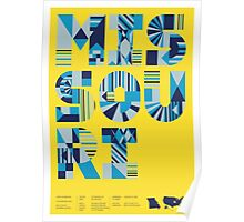 Typographic Missouri State Poster Poster