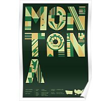 Typographic Montana State Poster Poster