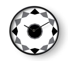 simple wall clock design: spinning edges Clock