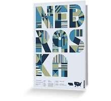 Typographic Nebraska State Poster Greeting Card