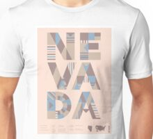 Typographic Nevada State Poster Unisex T-Shirt
