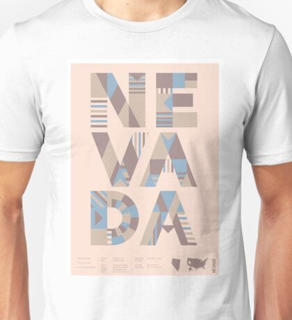 Typographic Nevada State Poster Unisex T-Shirt