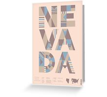 Typographic Nevada State Poster Greeting Card