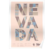 Typographic Nevada State Poster Poster