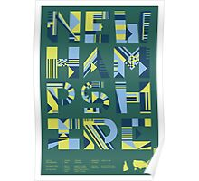 Typographic New Hampshire State Poster Poster