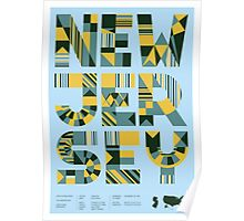 Typographic New Jersey State Poster Poster