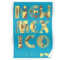 Typographic New Mexico State Poster Poster
