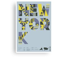 Typographic New York State Poster Canvas Print
