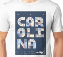 Typographic North Carolina State Poster Unisex T-Shirt