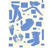 blue cream Photographic Print