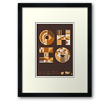 Typographic Ohio State Poster Framed Print