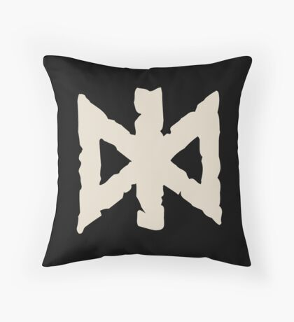 Undead Rune Collection Throw Pillow