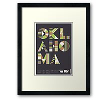 Typographic Oklahoma State Poster Framed Print