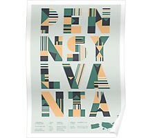 Typographic Pennsylvania State Poster Poster