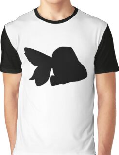 My Best Friends Are Goldfish; Solid Black Graphic T-Shirt
