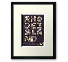 Typographic Rhode Island State Poster Framed Print