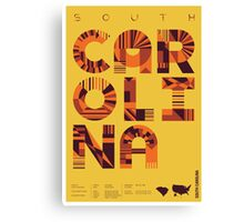 Typographic South Carolina State Poster Canvas Print
