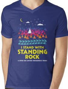 Stand With Standing Rock Shirt Mens V-Neck T-Shirt