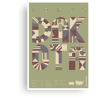 Typographic South Dakota State Poster Canvas Print