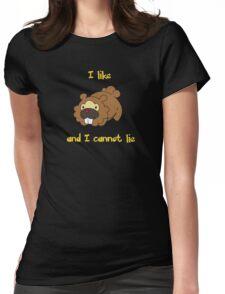 I Like Bidoof and I Cannot Lie Womens Fitted T-Shirt