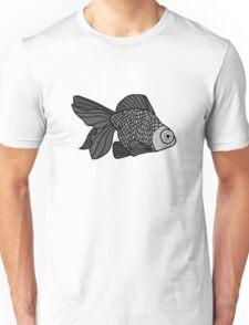 My Best Friends Are Goldfish; Monotome Unisex T-Shirt