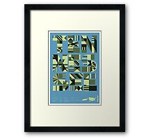 Typographic Tennessee State Poster Framed Print