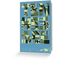 Typographic Tennessee State Poster Greeting Card