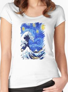 Starry Great Night Women's Fitted Scoop T-Shirt